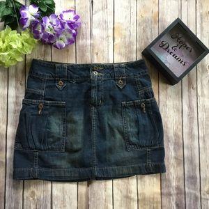 🆕 lei cargo denim jean skirt